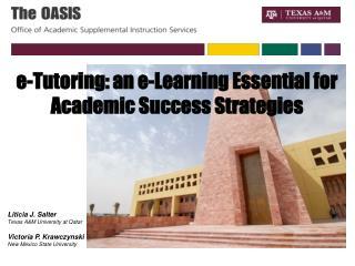 Liticia J. Salter Texas A&M University at Qatar