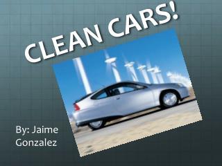 CLEAN CARS!