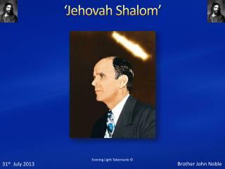 'Jehovah Shalom'