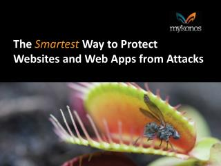 The  Smartest Way to Protect  Websites and Web Apps from Attacks