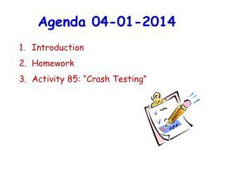 Agenda  04-01-2014