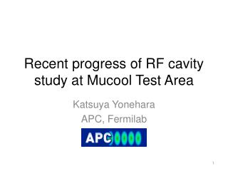 Recent progress of RF cavity study at  Mucool  Test Area