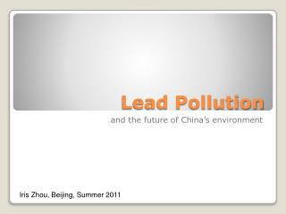 Lead Pollution