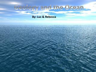 Geology and the Ocean