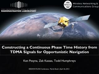 Constructing a Continuous Phase Time History from TDMA Signals for Opportunistic Navigation