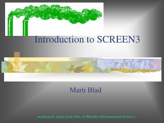 Introduction to SCREEN3