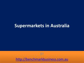 Supermarkets in Australia