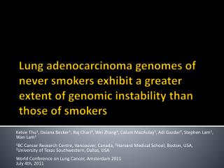 Lung Cancer in Never Smokers (NS)