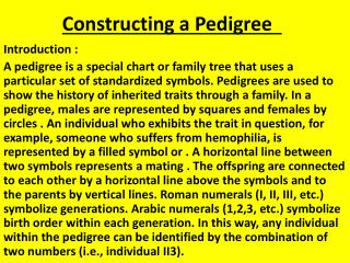 Constructing a Pedigree