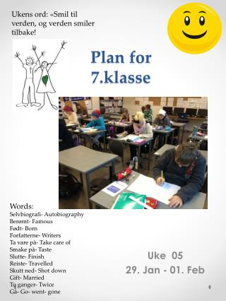 Plan for 7.klasse