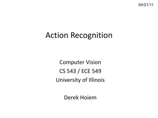 Action Recognition
