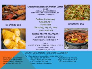 Greater Deliverance Christian Center COGIC 441 Chaplin Street SE WDC 20019