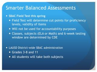 Smarter Balanced Assessments