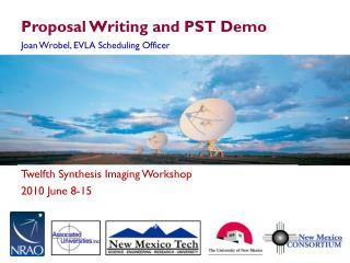 Proposal Writing and PST Demo