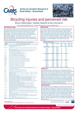 Bicycling injuries and perceived risk