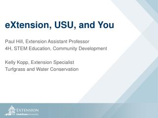 eXtension ,  USU, and You