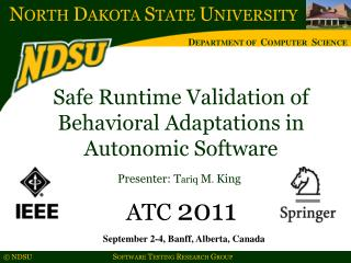 Safe Runtime Validation of Behavioral Adaptations in Autonomic Software