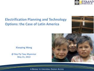 Electrification Planning and Technology  Options: the Case of Latin America