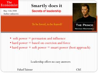 Smartly does it Secrets of leadership