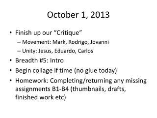 October 1, 2013