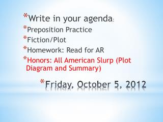 Friday ,  October  5,  2012