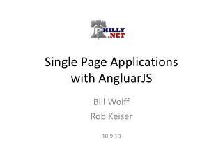 Single Page Applications with  AngluarJS