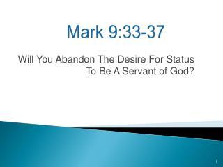 Mark 9:33-37