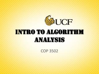 Intro to Algorithm analysis