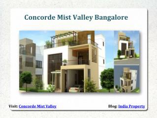 Concorde Mist Valley Sarjapur Road Bangalore