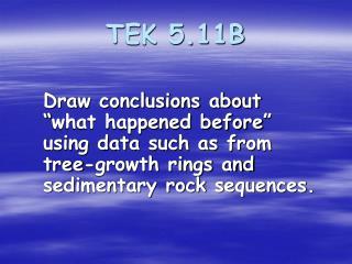 TEK 5.11B