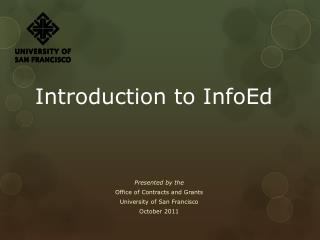 Introduction to InfoEd