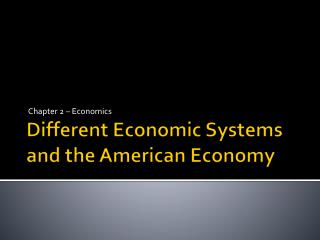 Different Economic Systems and the American Economy