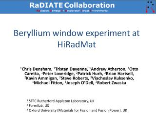 Beryllium window experiment at  HiRadMat