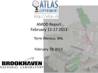 AMOD Report  February 11-17 2013