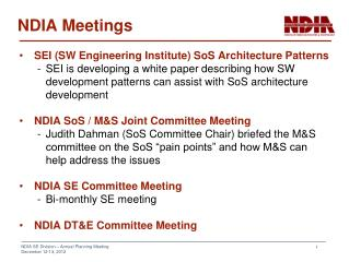NDIA Meetings