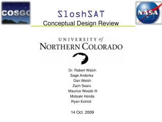 SloshSAT Conceptual  Design Review