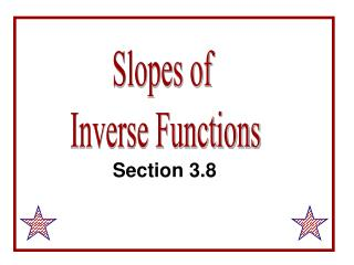Slopes of  Inverse Functions