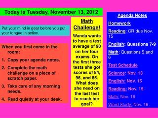 Math Challenge!