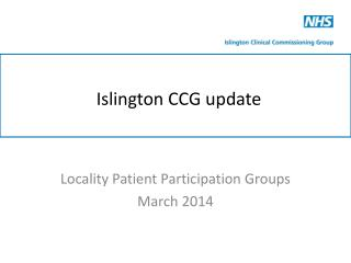 Islington CCG update