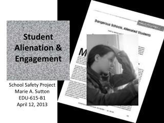 Student  Alienation  &  Engagement