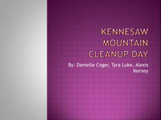 Kennesaw Mountain cleanup day