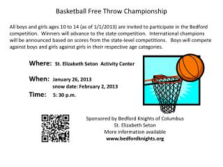 Basketball Free Throw Championship