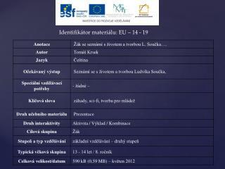 Identifikátor materiálu: EU – 14  - 19