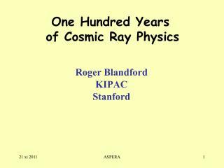 Roger Blandford KIPAC Stanford