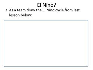 El Nino?