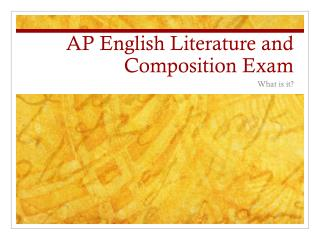 AP English Literature and Composition Exam