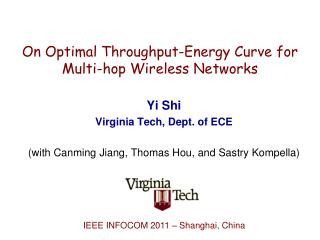 On Optimal Throughput-Energy Curve for Multi-hop Wireless Networks