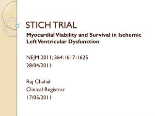 STICH TRIAL
