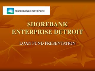 SHOREBANK ENTERPRISE DETROIT