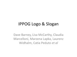 IPPOG Logo & Slogan